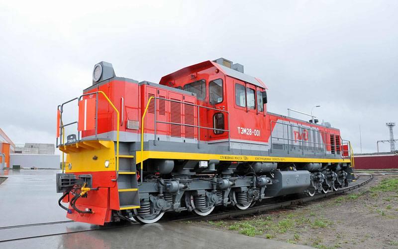 Брянский машиностроительный завод представил новый маневровый тепловоз ТЭМ28