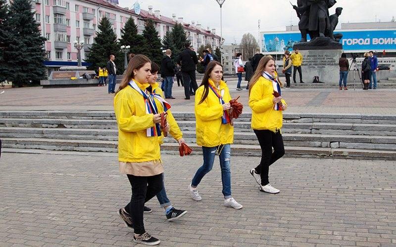 В Брянске раздадут десять тысяч георгиевских ленточек