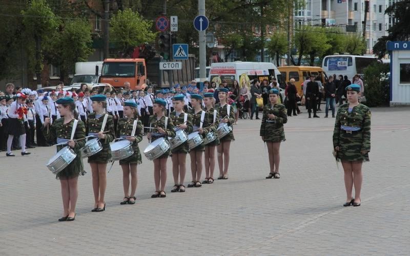 Брянский парад юнармейцев собрал более 500 школьников