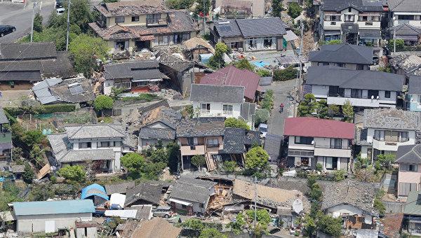 В зоне эвакуации в Кумамото скончались десять человек