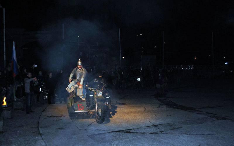 Брянские байкеры показали мотореконструкцию поединка Пересвета