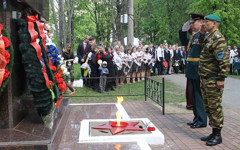 ВКлинцах вчесть Дня Победы прошел митинг-реквием «Слеза награните»