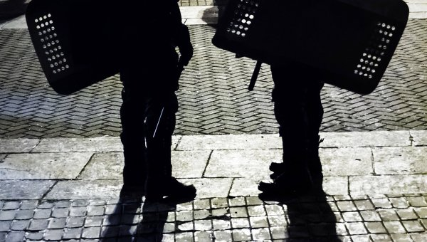 В Киеве подрались националисты с полицией