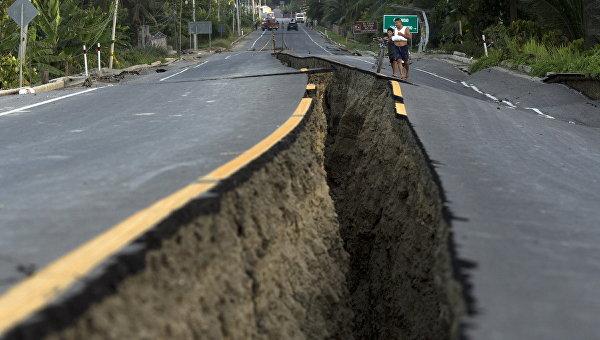В Эквадоре произошло второе за день землетрясение магнитудой 6,8
