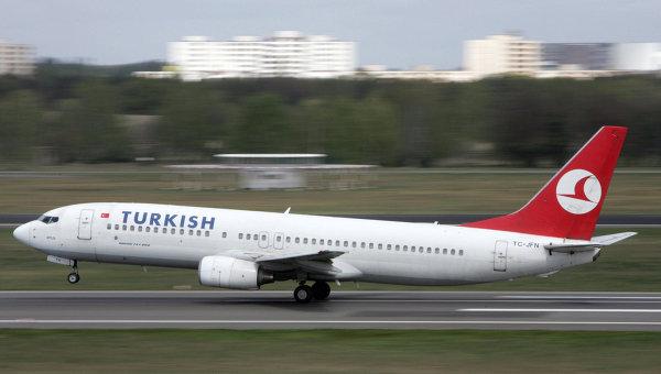 Сообщение о бомбе на борту лайнера Turkish Airlines оказалось ложным