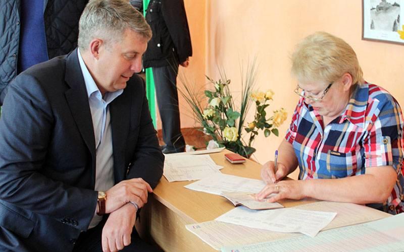 Александр Богомаз вместе ссемьей проголосовал напраймериз вСтародубском районе