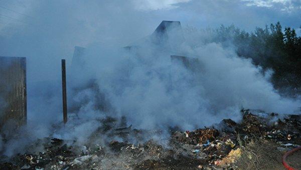 Мэр Львова считает, что пожар на свалке мог произойти из-за поджога