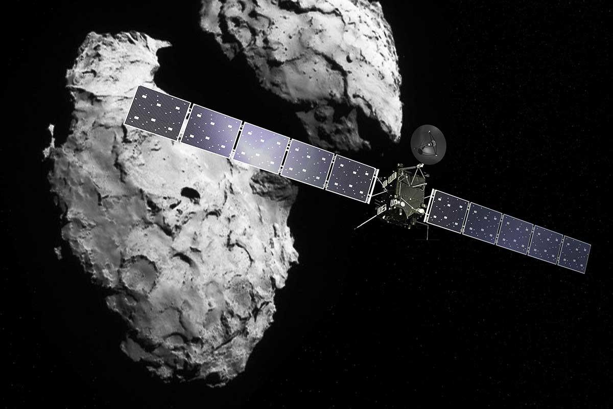 Возле кометы впервые обнаружены «кирпичики жизни»