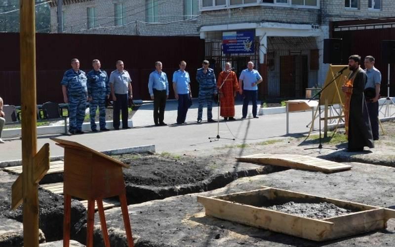 В суражской колонии-поселении заложили фундамент храма святой Анастасии