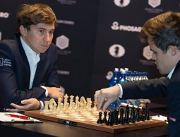 Карякин и Карлсен сыграли вничью в 11-ой партии матча за шахматную корону