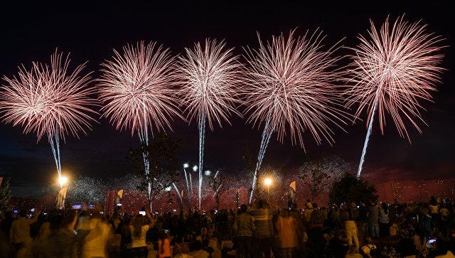 Зажгли: команда Словакии победила на фестивале фейерверков в Москве