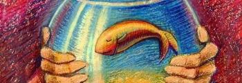 Девочка в аквариуме для золотой рыбки | Театр Кот
