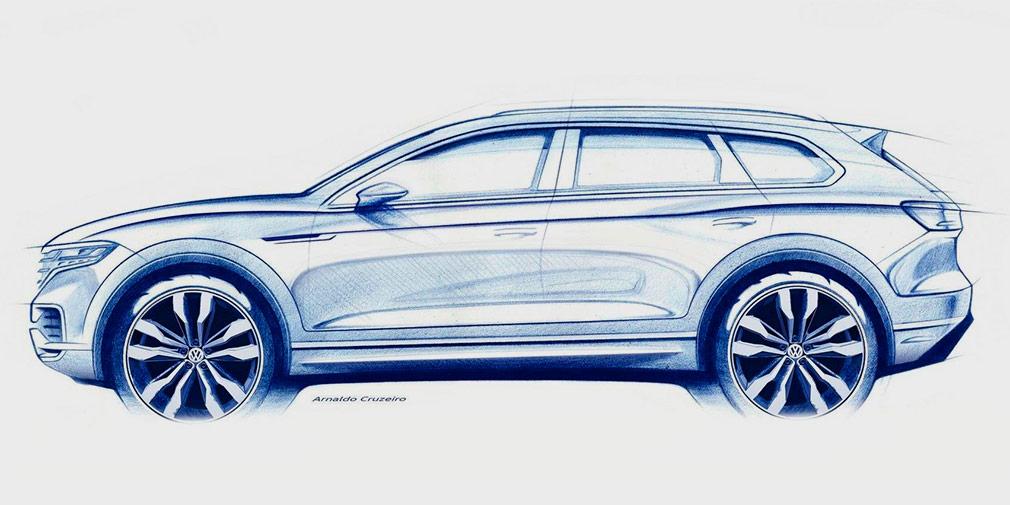 Volkswagen анонсировал Touareg нового поколения