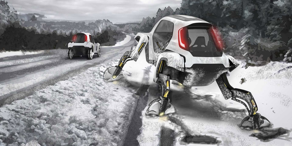 Hyundai представил шагающий автомобиль
