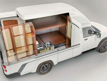 УАЗ показал внутреннее убранство автодома на базе «Профи»