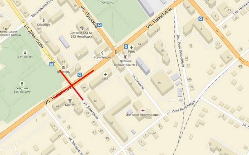 В ночь на20 апреля вВолодарском районе Брянска перекроют движение