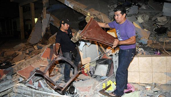 Число погибших в Эквадоре возросло до 587 человек