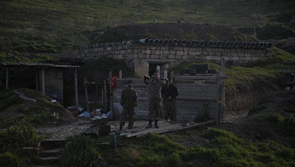 В НКР заявили, что на линии соприкосновения ночью было спокойно