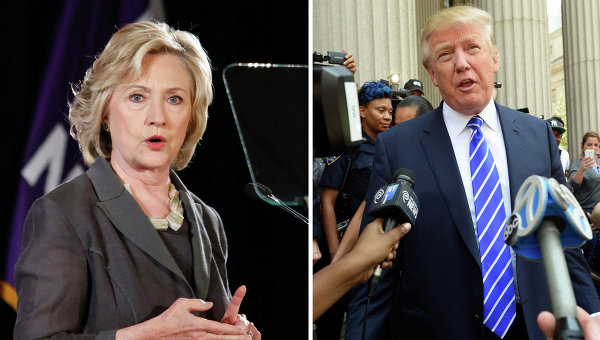 Опрос: в США избиратели показали негативное отношение к Трампу и Клинтон