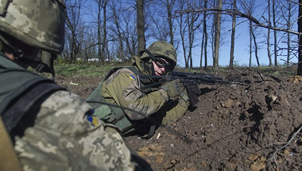 В Донецке открыли мемориал в честь погибших украинских силовиков