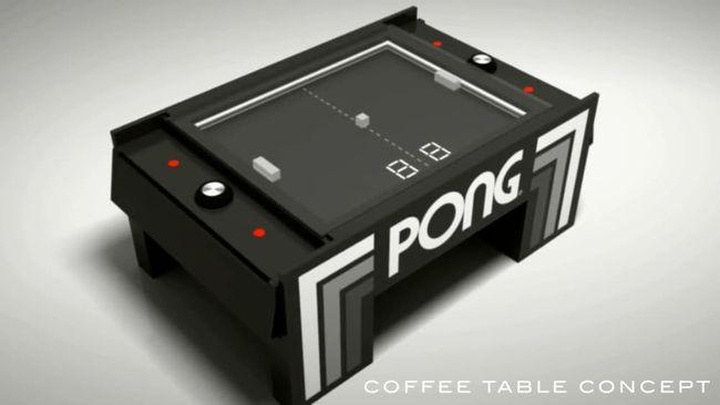 Энтузиаст превратил видеоигру PONG в аркадный кофейный столик
