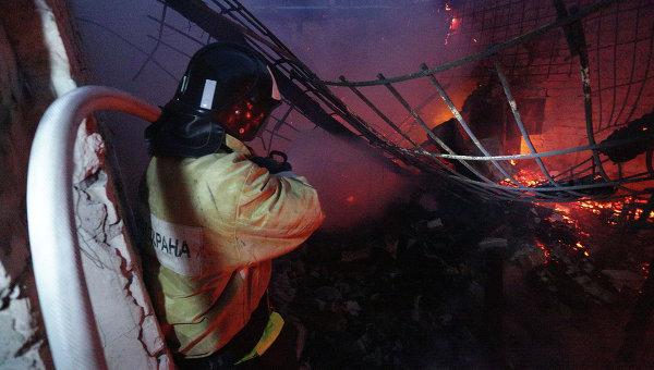 Пожар в доме престарелых на Украине мог произойти из-за взрыва телевизора