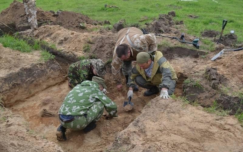 Брянские поисковики обнаружили вПогарском районе останки четырех солдат