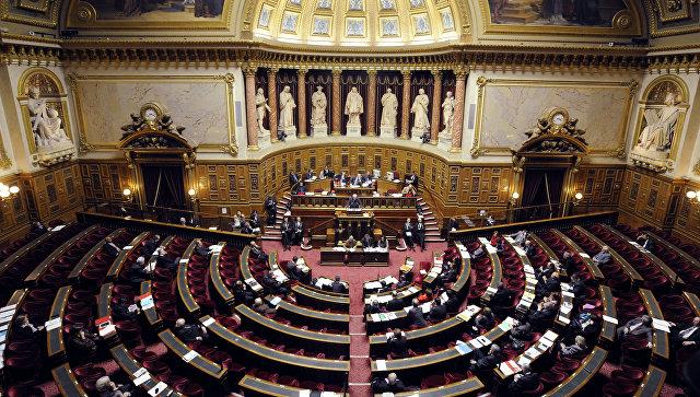 Десятки человек в Париже протестуют против смягчения антироссийских санкций