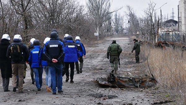 Представители СММ ОБСЕ прибыли на территорию шахты Бутовская в Донбассе