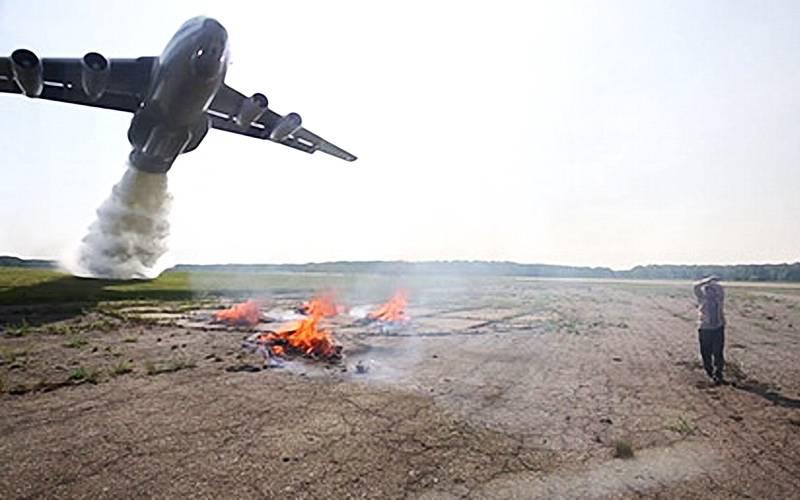 В Сеще военные летчики тушили костры набреющем полете