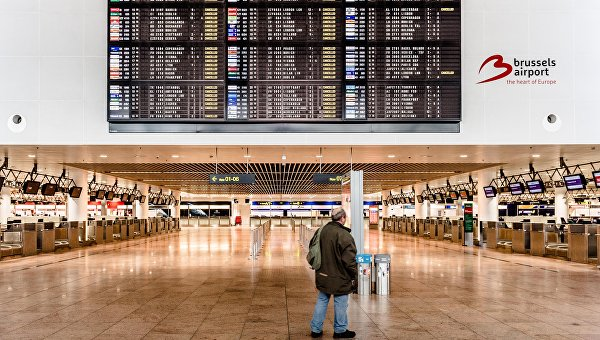 Перебои с электроснабжением нарушили работу аэропорта Брюсселя