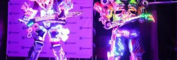 Лазерное световое шоу Роботов-Трансформеров