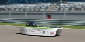 В Сочи представили первый российский автомобиль на солнечных батареях