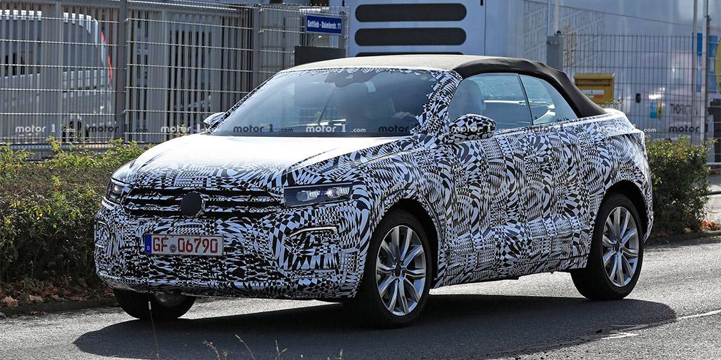 Volkswagen T-Roc с открытым верхом впервые замечен на тестах