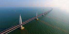 Видео: в Китае открыли самый длинный автомобильный мост в мире